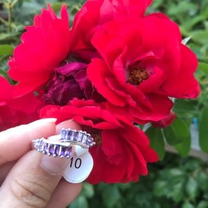Silver ring with stamp